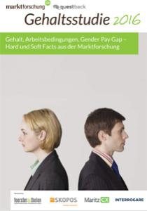 Gehalt, Arbeitsbedingungen, Gender Pay Gap in der Marktforschung. Gehaltsstudie 2016
