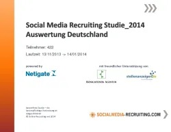 2014 SocialMedia Recruting Studien Deutschland_Österreich_Schweiz